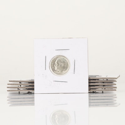 Ten Silver Roosevelt Dimes