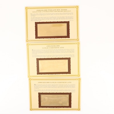 Three U.S. Gold Certificate Copies