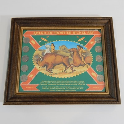 """American Frontier Nickel Set"" Framed Coin Display"