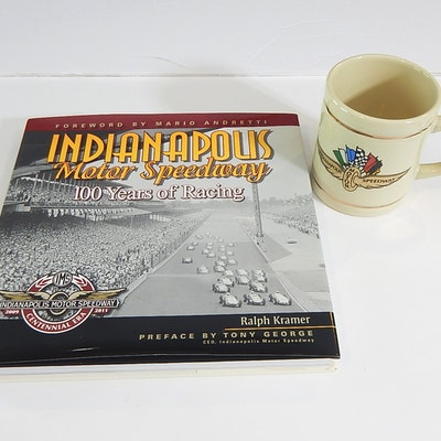 Indianapolis Motor Speedway Coffee Table Book and Ceramic Mug