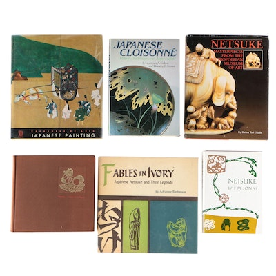"Japanese Art, Cloisonné, and Netsuke Books including ""Fables in Ivory"""