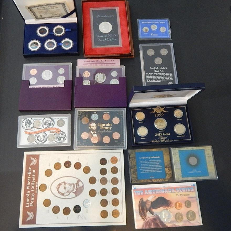 U S  Mint Proof Sets, Buffalo Nickel Sets, Eisenhower Proof Dollar, and More