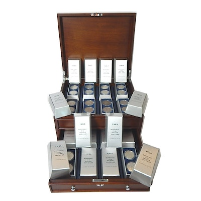 """PCS Complete """"Historic U.S. Silver Dollars"""" Thirty-Two Coin Set, 1880 to 1926"""
