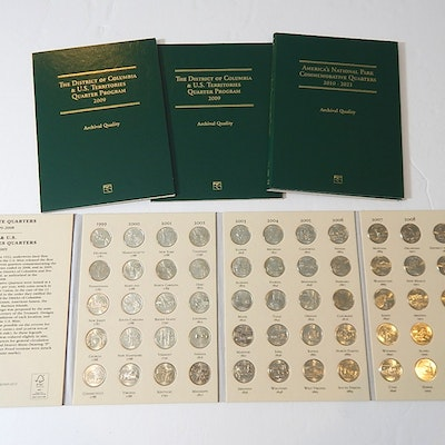 Fifty State Quarters 1999 to 2008, Partial National Park Quarters, and More
