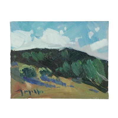 "Jose Trujillo 2017 Oil Painting ""Mountainside Blessings"""
