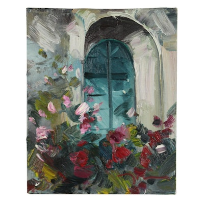 "Jose Trujillo 2017 Oil Painting ""The Window"""