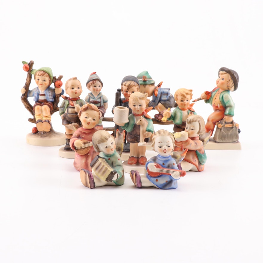 """Goebel Hummel Porcelain Figurines Featuring """"Retreat to Safety"""""""