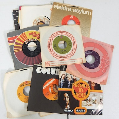 45 RPM Records with Classic Rock, Easy Listening, R&B, More