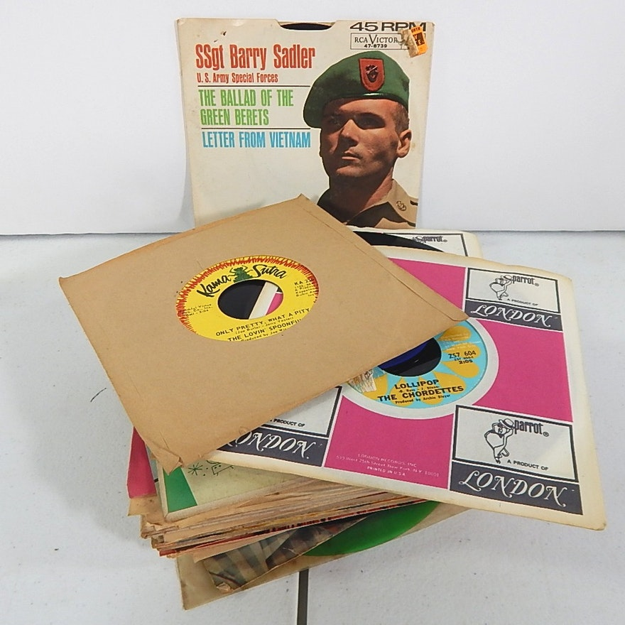 45 RPM Records with Country, R&B, Easy Listening, Pop