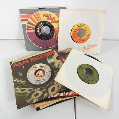 45 RPM Records with Johnny Cash, Eric Clapton, Bob Seger, More