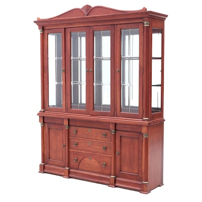 Lexington Neoclassical China Cabinet, in Cherry