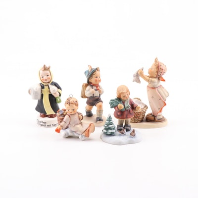 "Goebel Hummel Porcelain Figurines Featuring ""Love From Above"""