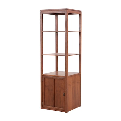 Wood Display Cabinet, Retailed by Bratburd's Cincinnati