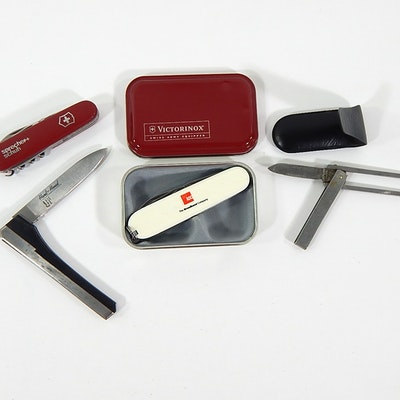 Folding Knives with Victorinox Swiss Army Multi Tool and More