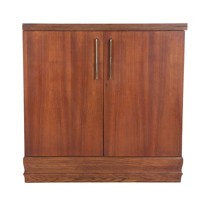 Modern Teak and Oak Cabinet with Extending Top, Mid to Late 20th Century