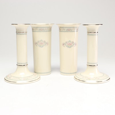 "Lenox ""Charleston"" Vases and Candlesticks"