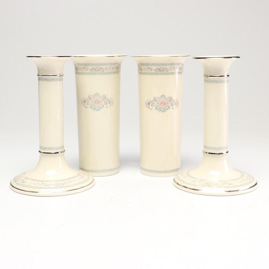 "Lenox ""Charleston"" Vases and Candlesticks"