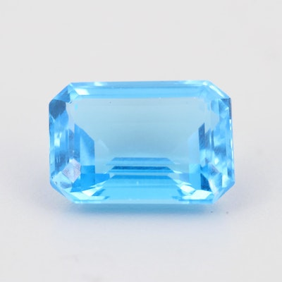 Loose 19.82 CT Blue Topaz Gemstone