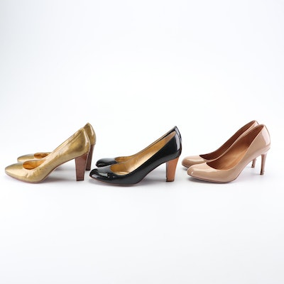 Coach and J. Crew Patent Leather Pumps
