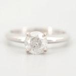 Stuller 14K White Gold 1.11 CT Diamond Solitaire Ring
