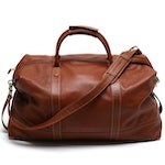 Coach Travel Collection British Tan Leather Duffel Bag