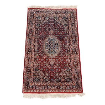 Hand-Knotted Persian Bijar Wool Rug