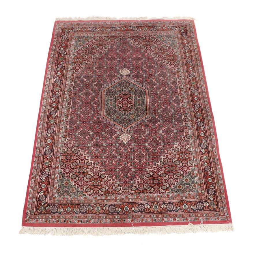 Hand-Knotted Persian Bijar Wool Rug