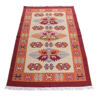 Machine Made Turkish Synthetic Kilim Rug