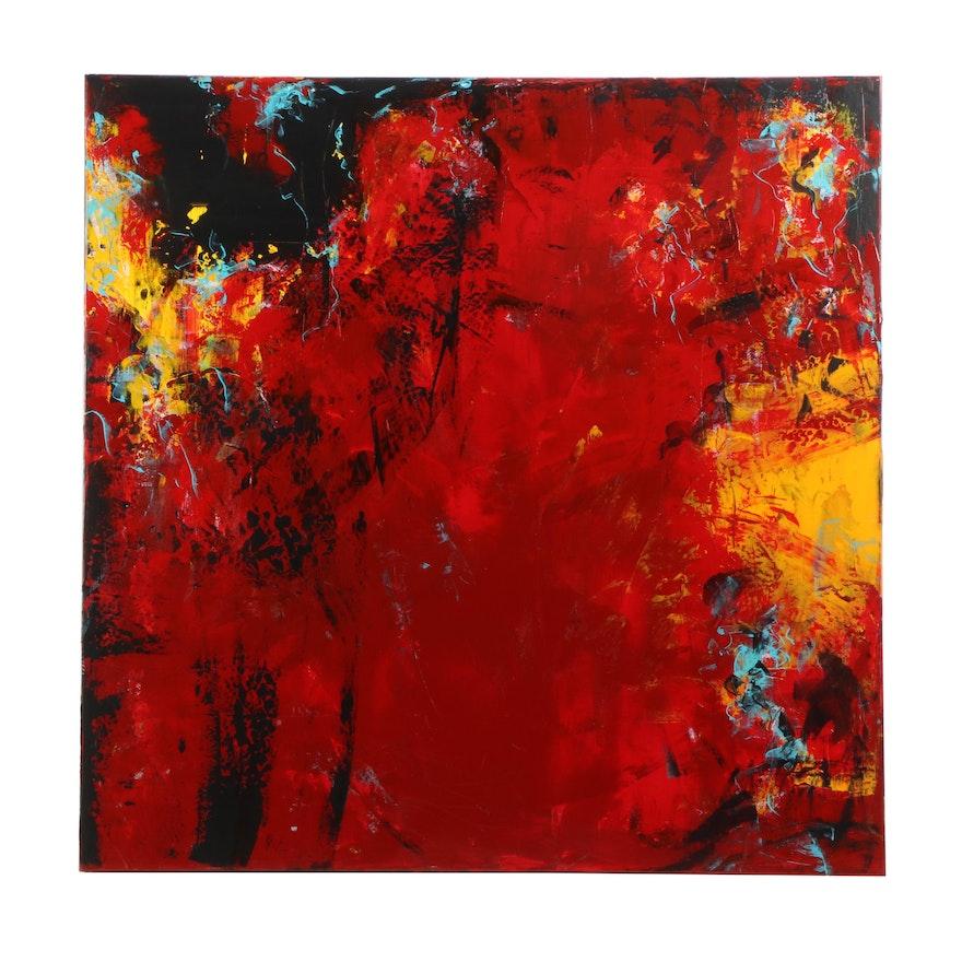 "Sanna Abstract Acrylic Painting ""Emergence"""
