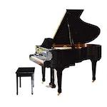 K. Kawai RX-2 Classic Salon Grand Piano and Bench, Circa 2008