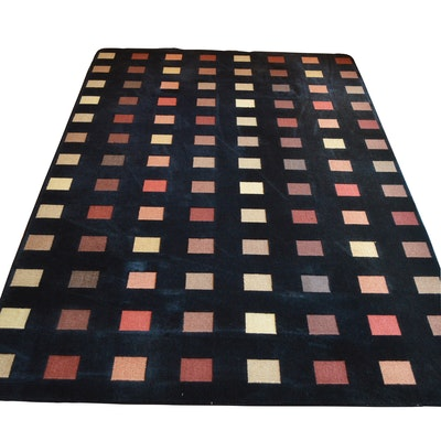 Machine Made Stark Carpets Hi-Low Wool Area Rug