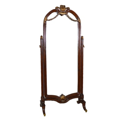French Empire Style Cheval Mirror, Late 20th Century