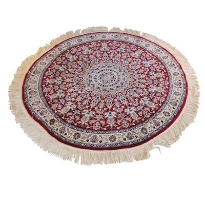 Power Loomed Indo-Persian Round Wool Area Rug