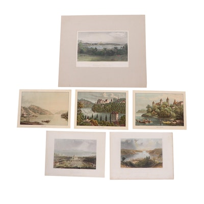 Lithographs Featuring Castles