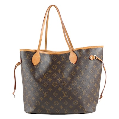 Louis Vuitton Paris Neverfull MM Tote in Monogram Canvas and Vachetta Leather