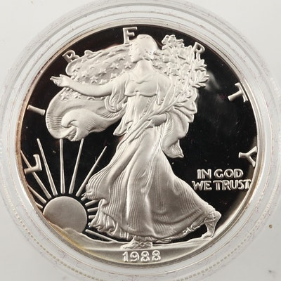 1988-S $1 U.S. Silver Eagle Proof Bullion Coin