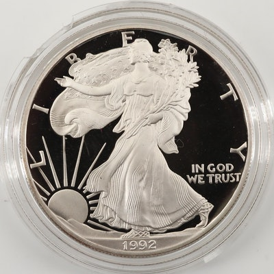 1992-S $1 U.S. Silver Eagle Proof Bullion Coin