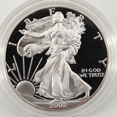 2002-W $1 U.S. Silver Eagle Proof Coin