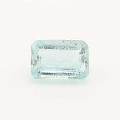 Loose 3.27 CT Aquamarine Gemstone
