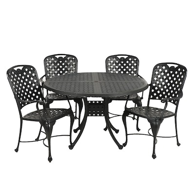 Black Wrought Iron Patio Table Set