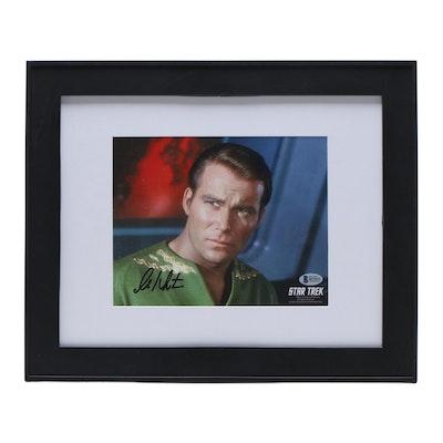 """William Shatner Signed Captain James T. Kirk """"Star Trek"""" Framed Photo Print, COA"""
