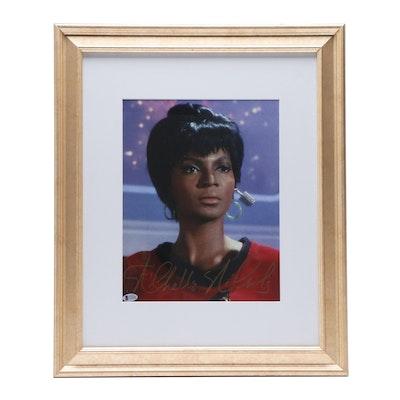 "Nichelle Nichols Autographed Lieutenant Uhura ""Star Trek"" Framed Print"
