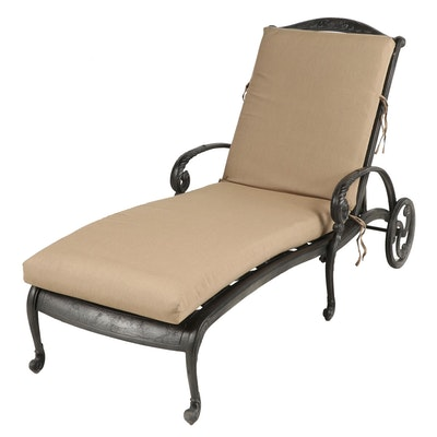 Metal Patio Chaise Lounge with Sunbrella Cushion
