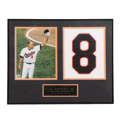 Cal Ripken, Jr. Signed Framed Limited Display, Visual COA