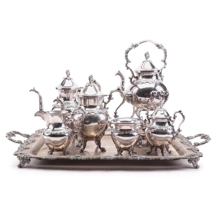 Birmingham Silver Co. Silver Plate Tea and Coffee Service