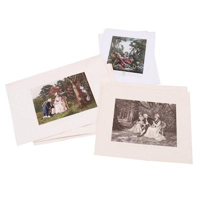 19th Century Engravings of Romantic Scenes