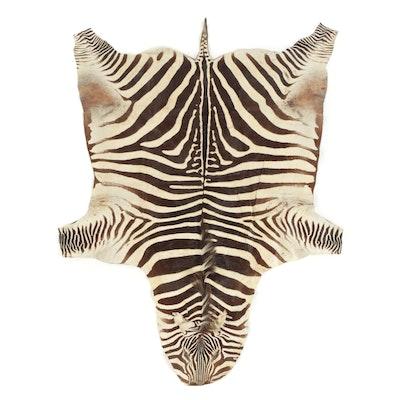 African Grant's Plains Zebra Full Hide Rug