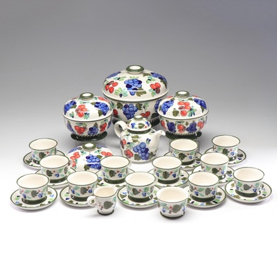 "Arabia Finland ""Palermo"" Tea Service and Serving Dishes"