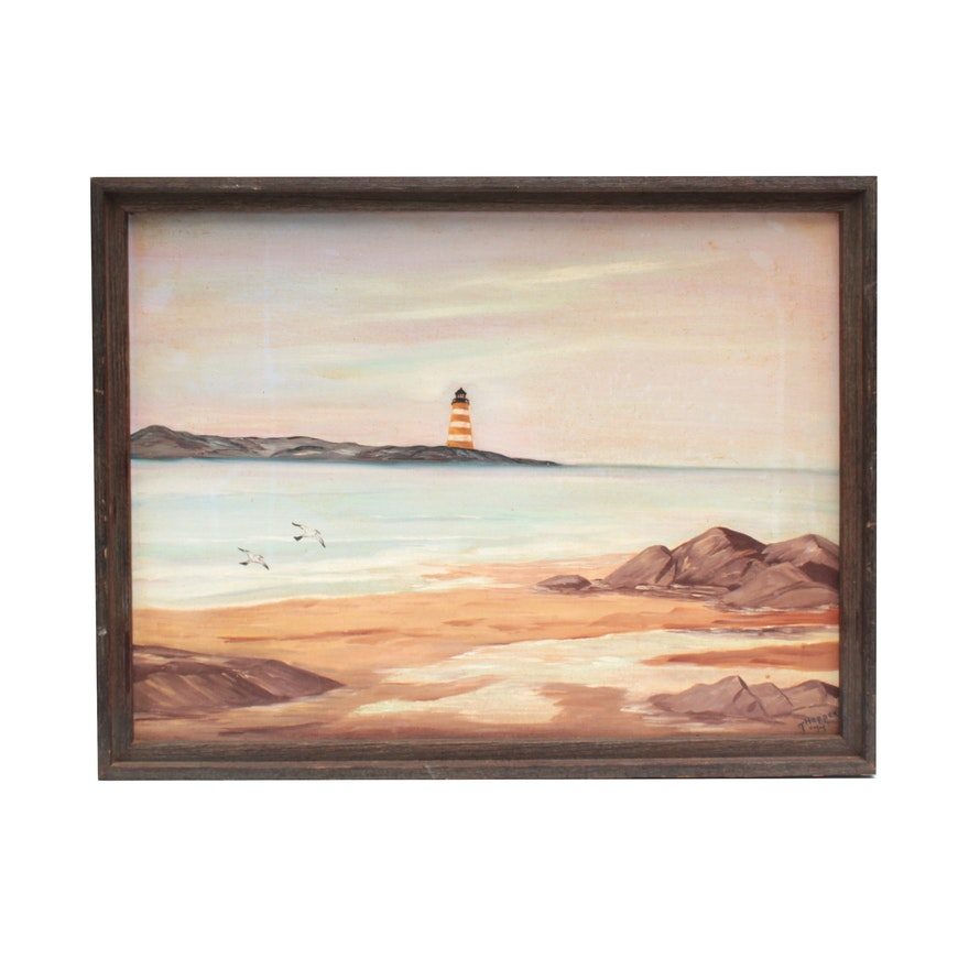 T. Hopper Acrylic Painting