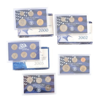 Five United States Mint Proof Sets